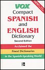 Vox Compact Spanish/English-Ingles/Espa�ol Dictionary